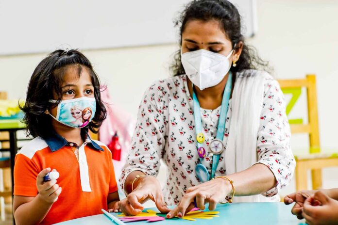 Oakridge International School Bachupally ensures a safe and healthy welcome to their students